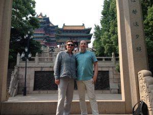 At Yuejiang Tower in Nanjing